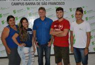 Reunião do reitor com estudantes do Campus Barra de São Francisco.