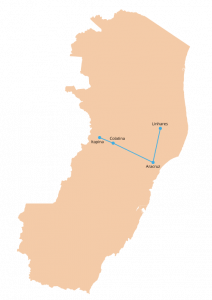 A Rota 3 da Reitoria Itinerante do Ifes inclui os campi Aracruz, Linhares, Colatina e Itapina.