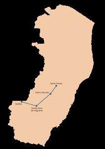 A Rota 4 da Reitoria Itinerante do Ifes inclui os campi Ibatiba, Venda Nova do Imigrante, Santa Teresa e Centro-Serrano